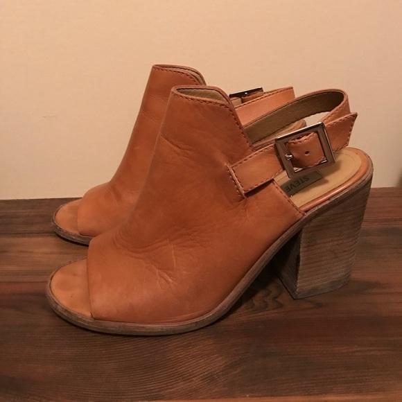 003ec69ecf Steve Madden Shoes - Steve Madden Tallen Cognac Peep-Toe Bootie